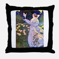 The Rose Faries Throw Pillow