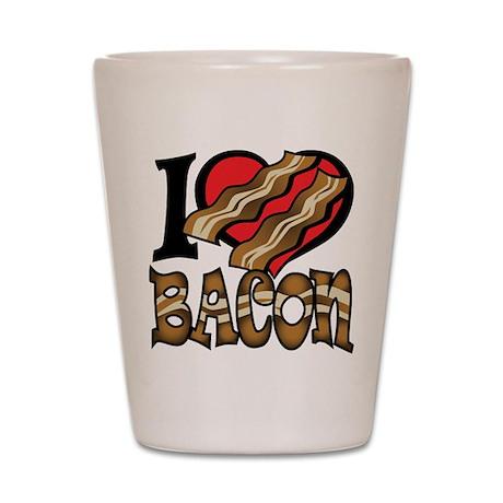 I Love Bacon Shot Glass
