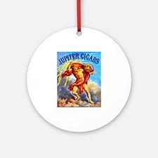 Jupiter Cigar Label Ornament (Round)