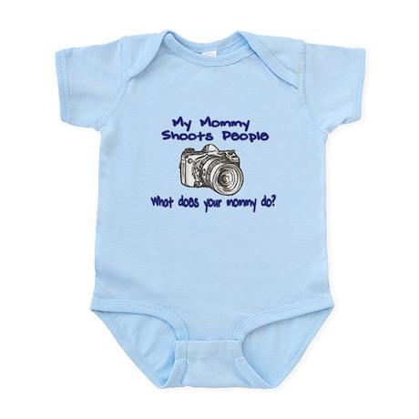 My Mommy Shoots- Blue Infant Bodysuit