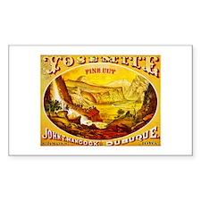 Yosemite Cigar Label Bumper Stickers