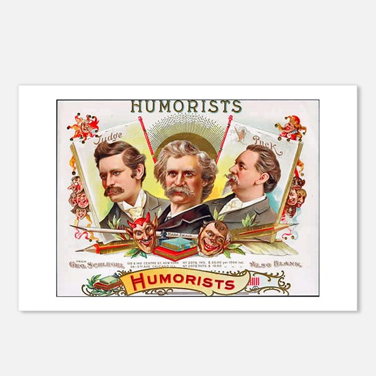 Humorists Cigar Label Postcards (Package of 8)