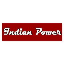 Indian Power Bumper Car Sticker