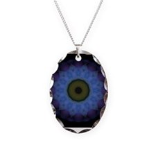 Nazar Blue Necklace Oval Charm