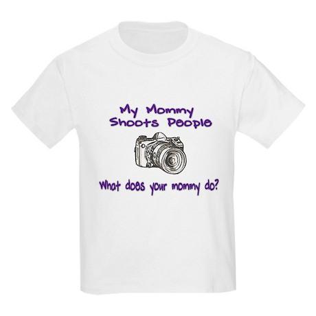 Photographer Shoots People- M Kids Light T-Shirt