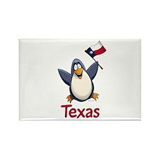 Texas Penguin Rectangle Magnet