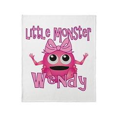 Little Monster Wendy Throw Blanket