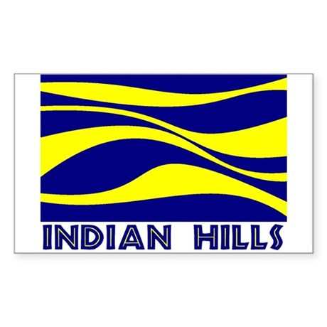 INDIAN HILLS Sticker (Rectangle)