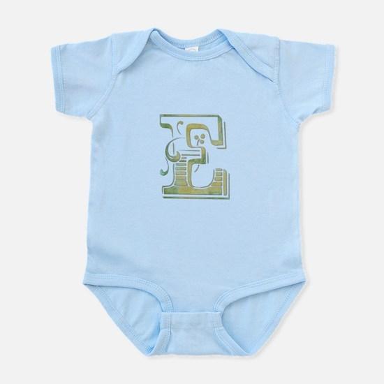 Initial (letter) E Infant Bodysuit