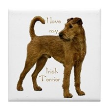 """Irish Terrier"" Tile Coaster"