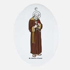 St. Francis of Assisi Oval Ornament