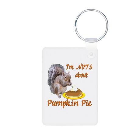 Pumpkin Pie Squirrel Aluminum Photo Keychain