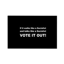 Socialist Vote It Out Rectangle Magnet