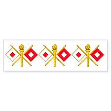 signal corps insigniaX3 Bumper Bumper Sticker