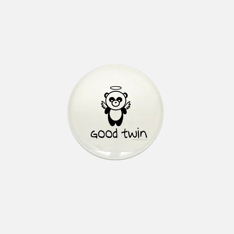 good twin (panda design) Mini Button