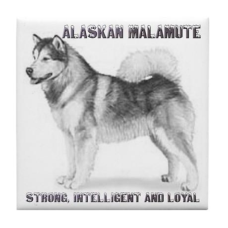 """Alaskan Malamute"" Tile Coaster"