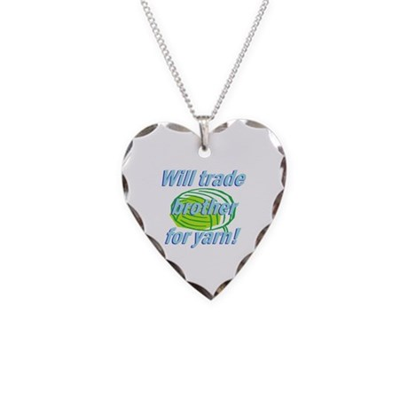 Trade Brother Necklace Heart Charm
