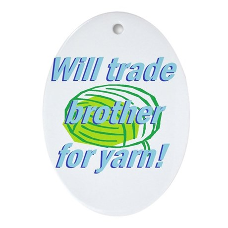 Trade Brother Ornament (Oval)
