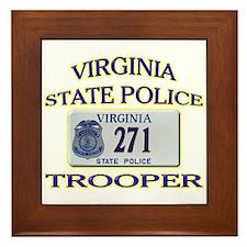 Virginia State Police Framed Tile