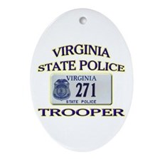 Virginia State Police Ornament (Oval)