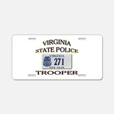 Virginia State Police Aluminum License Plate