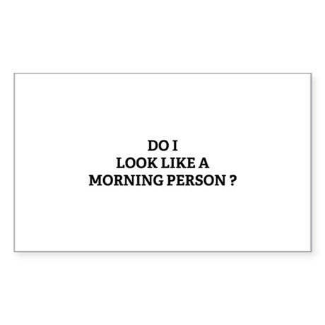 Morning Person ? Sticker (Rectangle)