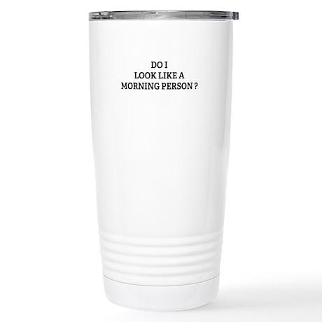 Morning Person ? Stainless Steel Travel Mug