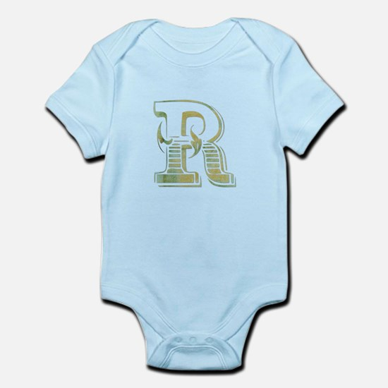Initial (letter) R Infant Bodysuit