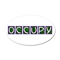 occupy squares 22x14 Oval Wall Peel