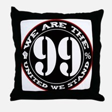 The 99% United We Stand Throw Pillow