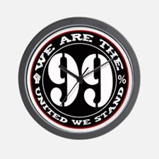 The 99% United We Stand Wall Clock