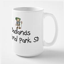 Hike Badlands Nat Park (Boy) Large Mug