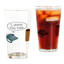 I Phone You Tube Drinking Glass