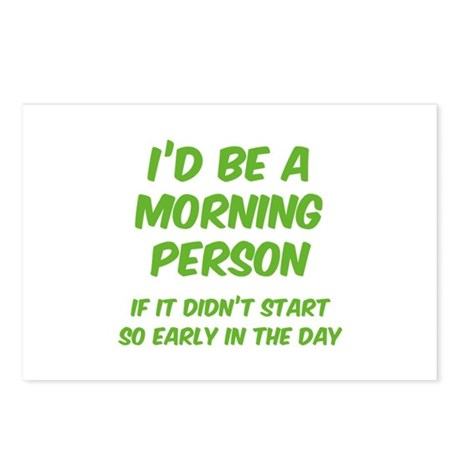 I'd be e Morning Person Postcards (Package of 8)