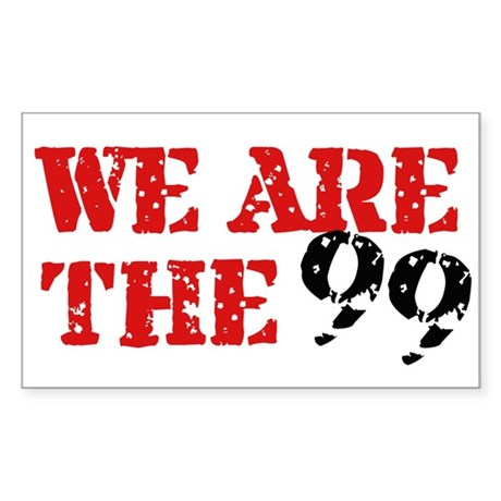 We Are The 99 Sticker (Rectangle)