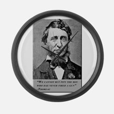 Thoreau on Guns Large Wall Clock