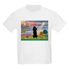 Cloud Angel Black Poodle T-Shirt