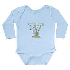 Initial (letter) Y Long Sleeve Infant Bodysuit