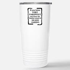 No One Caring Thermos Mug
