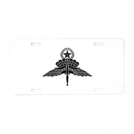 HALO Jump Master Aluminum License Plate