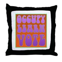 occupy power Throw Pillow