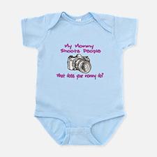 My Mommy Shoots- Pink Infant Bodysuit