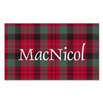 Tartan - MacNicol Sticker (Rectangle)