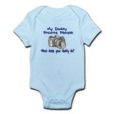 My Daddy Shoots- Blue Infant Bodysuit