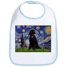 Starry Night Black Poodle Bib