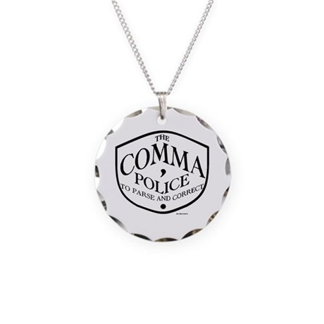 Comma Police Necklace Circle Charm