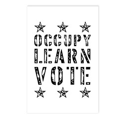 occupy learn vote Postcards (Package of 8)