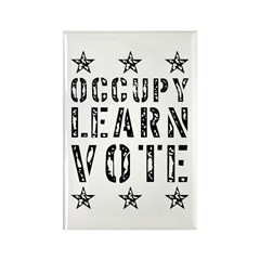occupy learn vote Rectangle Magnet