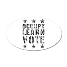 occupy learn vote 22x14 Oval Wall Peel