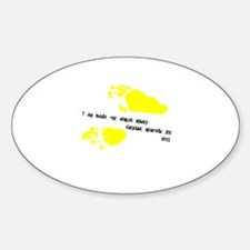 Funny Howler Sticker (Oval)